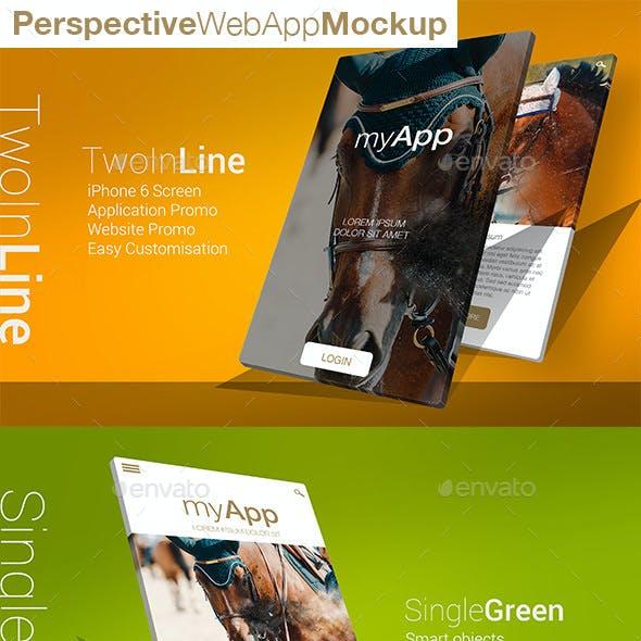 Perspective 3D Web App Mockup