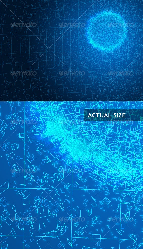 Binary explosion - Backgrounds Graphics