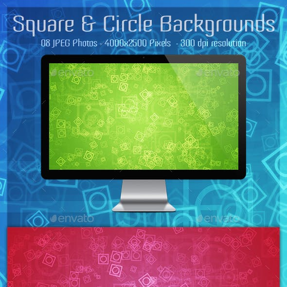 Square and Circle Backgrounds