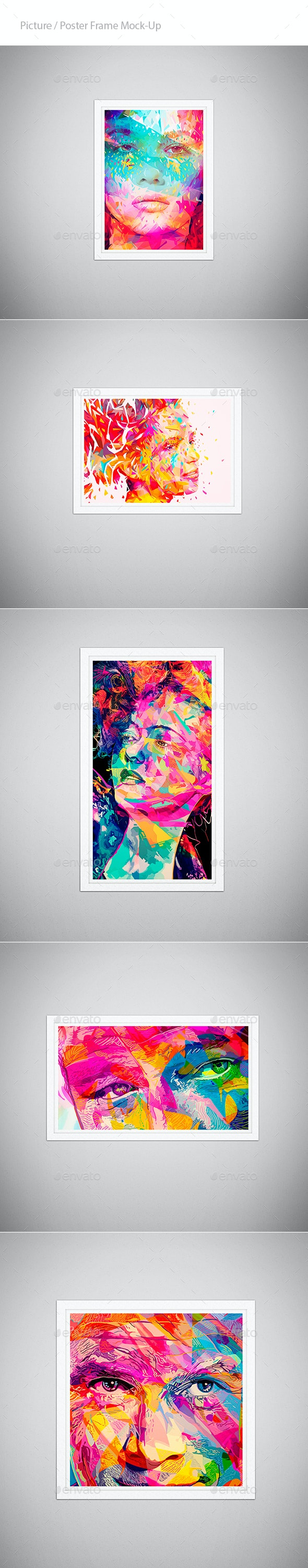 Picture / Poster Frame Mock-Up  - Posters Print