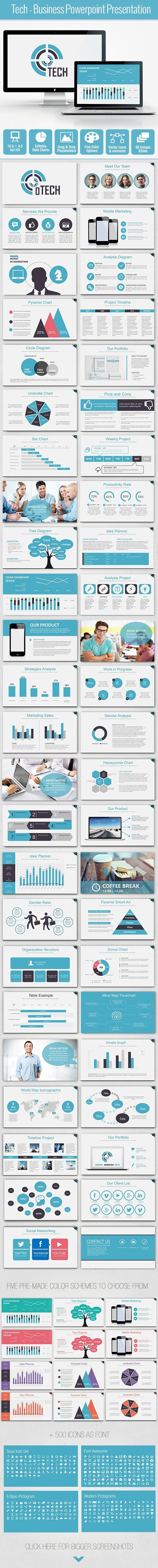Tech - Business Powerpoint Presentation - Business PowerPoint Templates