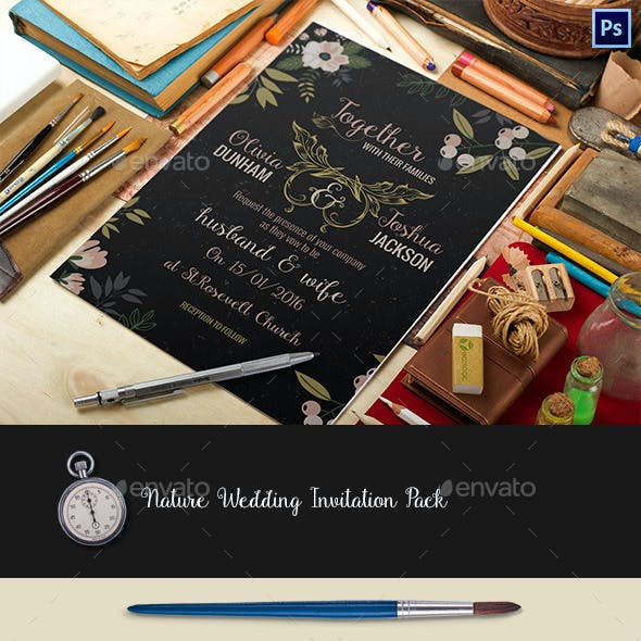 Nature Wedding Invitation Pack