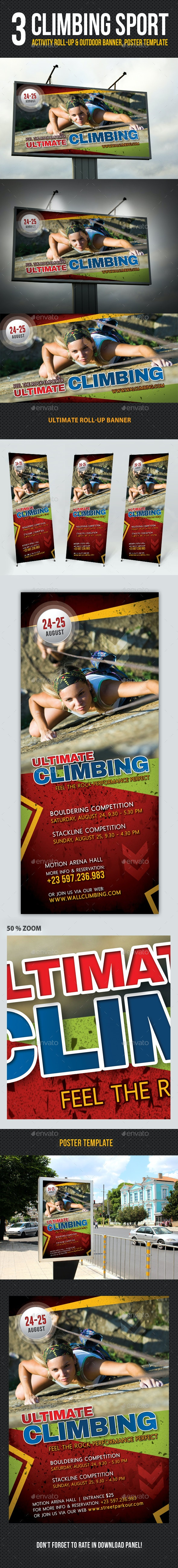 3 in 1 Climbing Sport Activity Banner Bundle