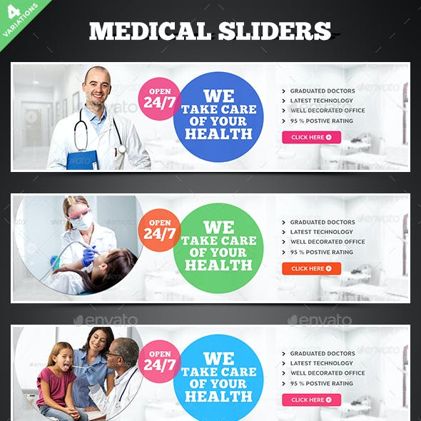 Medical Sliders - 4 Designs