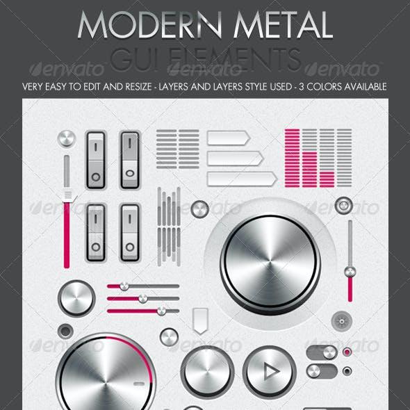 Modern Metal GUI Interface