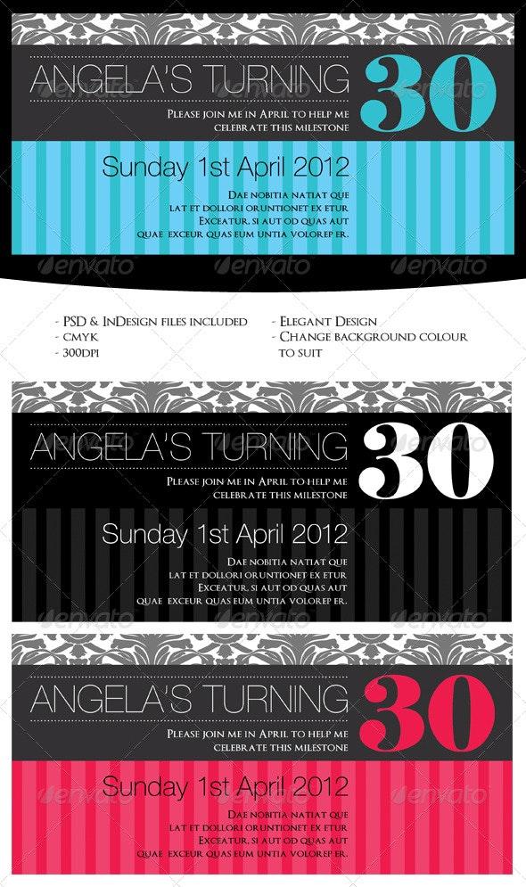 Elegant Birthday Invitation - Birthday Greeting Cards