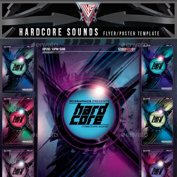 Hardcore Electronic Sounds Flyer Template