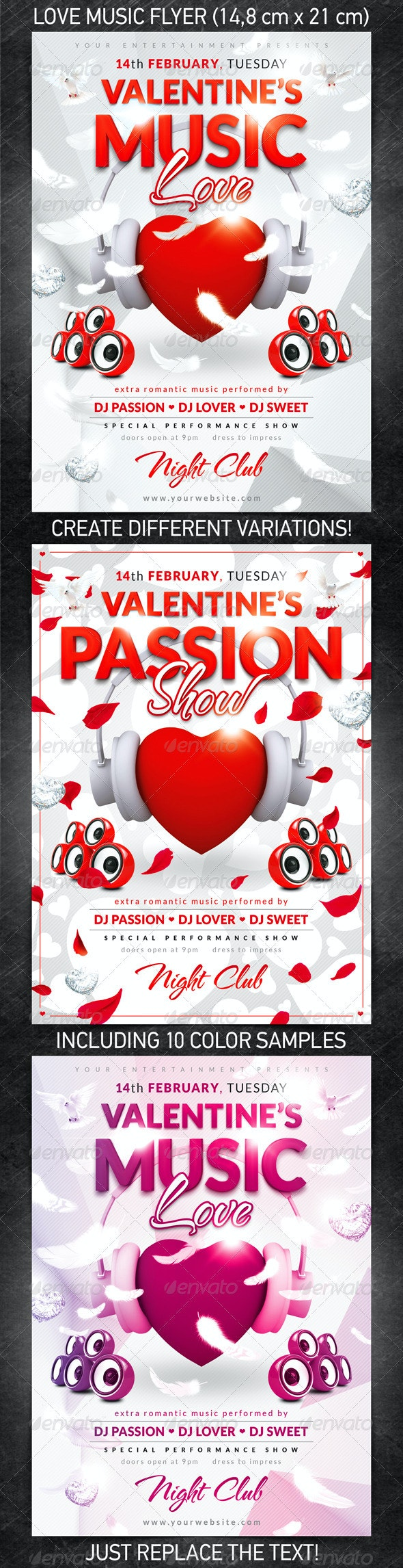 Love Music Flyer - Clubs & Parties Events