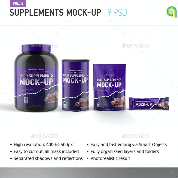 Sport Supplement Package Mock-up Vol. 2