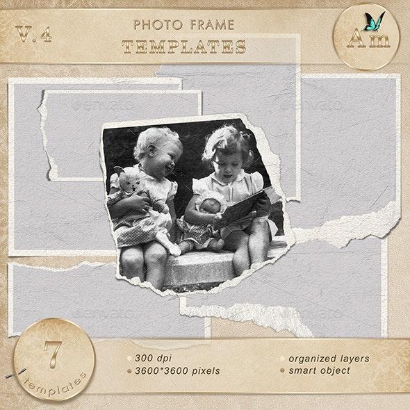 Photo frame templates. V4 - Photo Templates Graphics