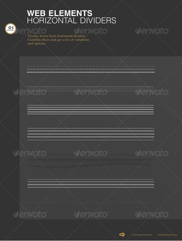WebElements - Horizontal Divider Vol. 01 - Miscellaneous Web Elements