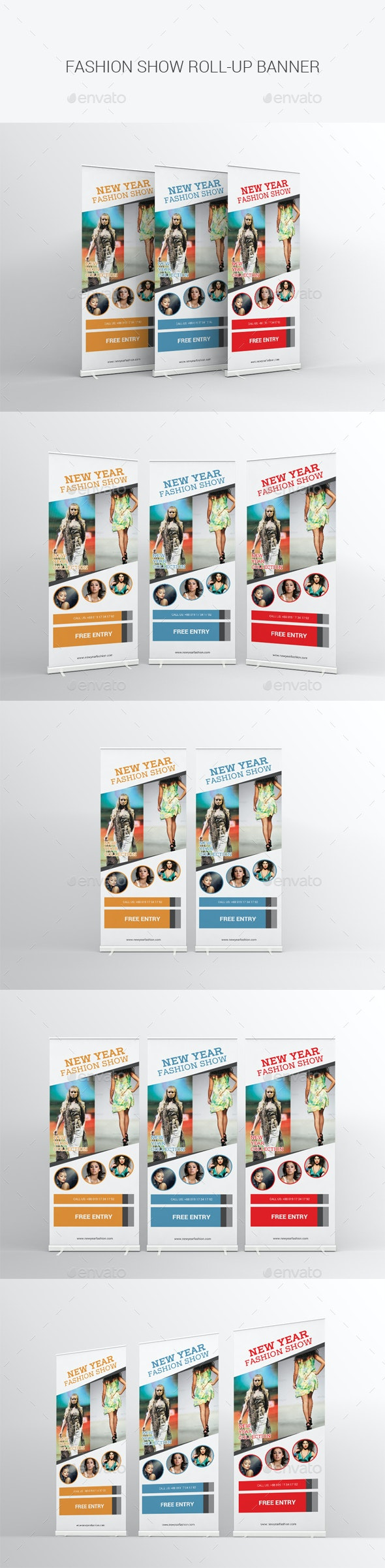 Fashion Show Roll-up Banner - Signage Print Templates