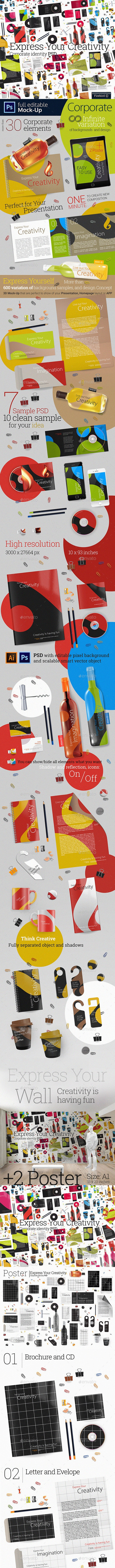 3D Corporate +3 0 Elements - Stationery Print