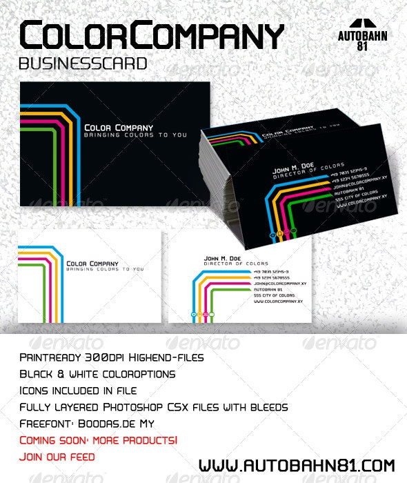 "Businesscard ""Color Company"" - Creative Business Cards"