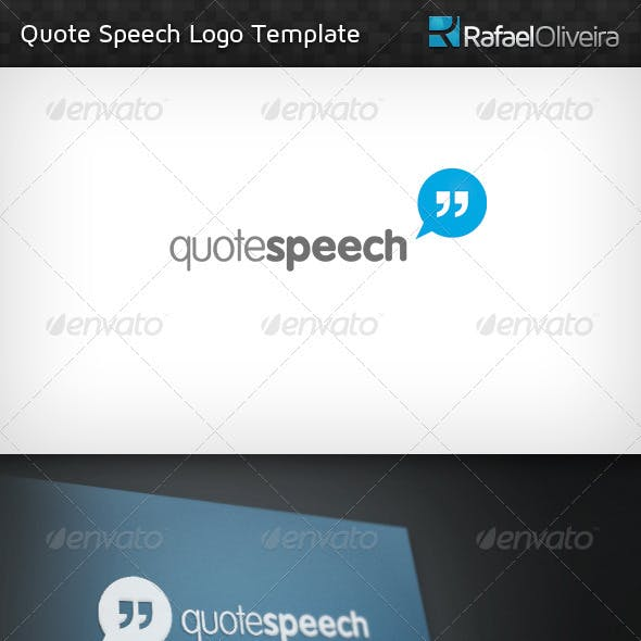 Quote Speech Logo Template