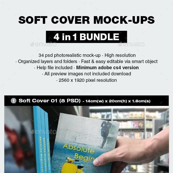 Soft Cover Mock-up Bundle