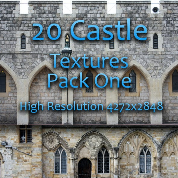 20 Castle Facade Textures - Pack One