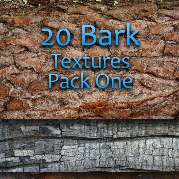 20 Bark Textures - Pack One