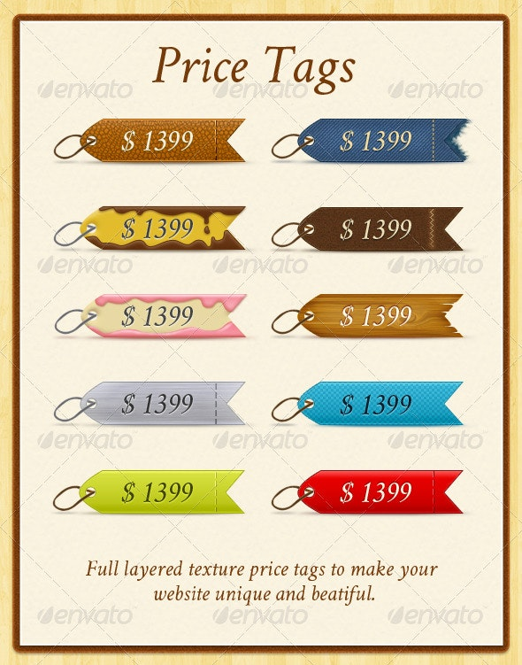 Price Tags - Badges & Stickers Web Elements