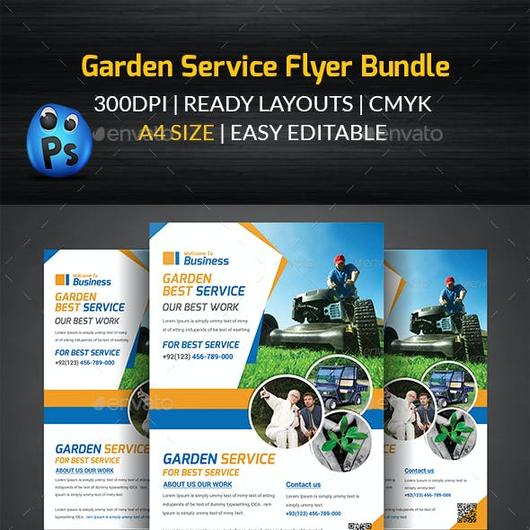 Garden Service Flyer Bundle