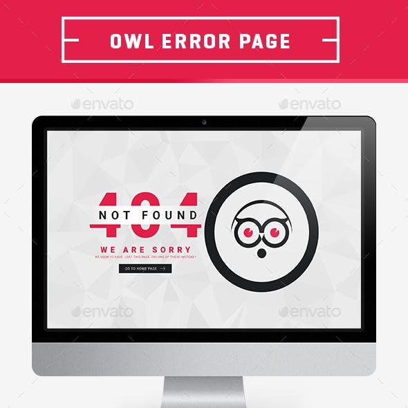Mr.Owl 404 Error Page
