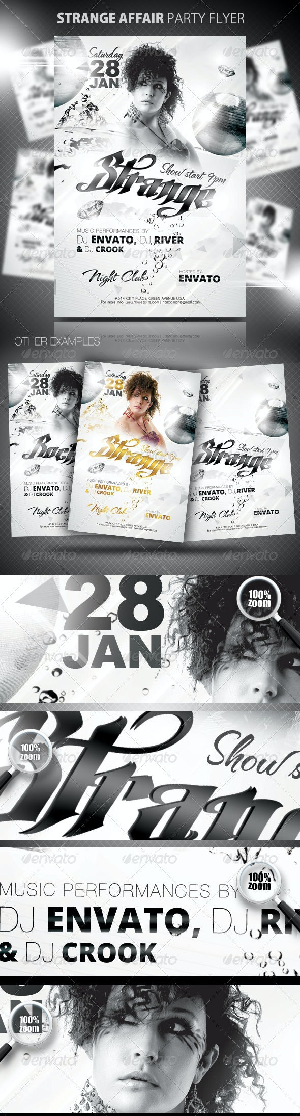 Strange Affair Party Flyer - Clubs & Parties Events