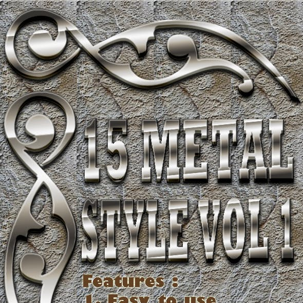 15 Metal Text Effect Style Vol 1