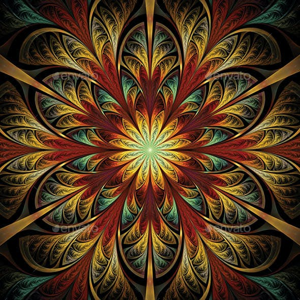 Abstract Fractal Backgrounds Vol.2