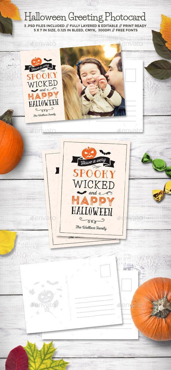 Halloween Greeting Photocard - Holiday Greeting Cards