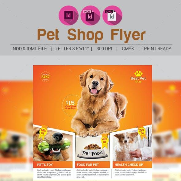Pets Shop Flyer Template