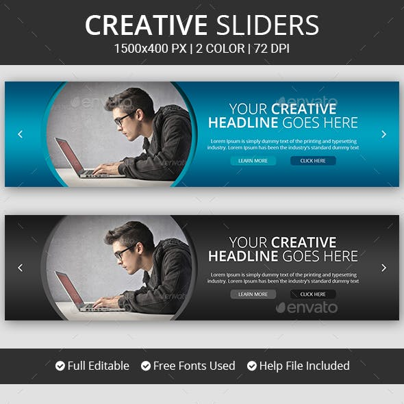 Creative Slider Graphics, Designs & Templates from GraphicRiver