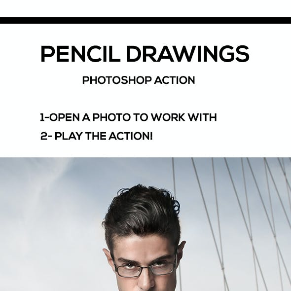 Pencil Drawings Photoshop Action