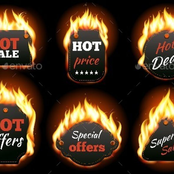 Fire Labels Set