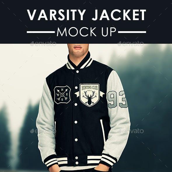 Mens Varsity Jacket Mock Up