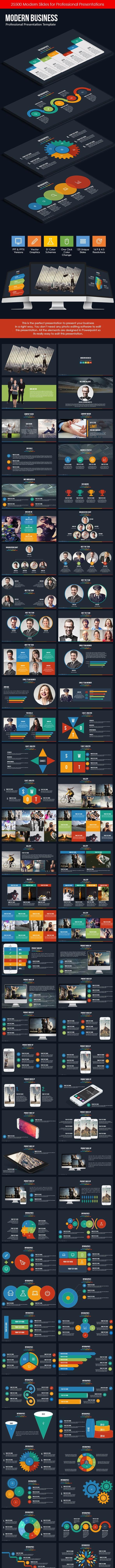 Modern Business PowerPoint Template - Business PowerPoint Templates