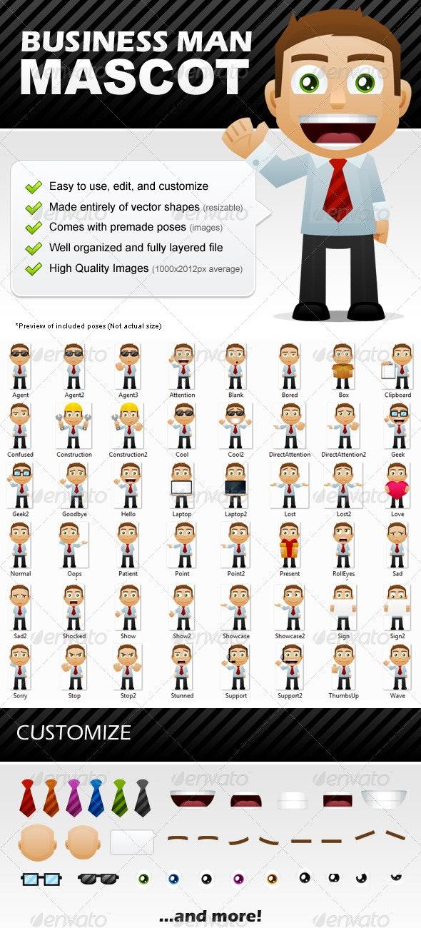 Business Man Mascot - Characters Illustrations