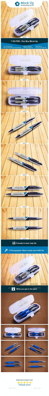 Pen Box Mock Up V.4 - Miscellaneous Product Mock-Ups