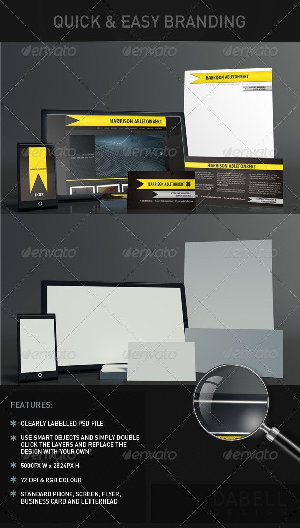 Quick and Easy Branding Mock-Up - Stationery Print