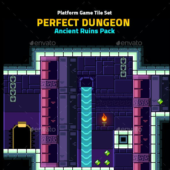 Perfect Dungeon Tile Set Ancient Ruins Pack