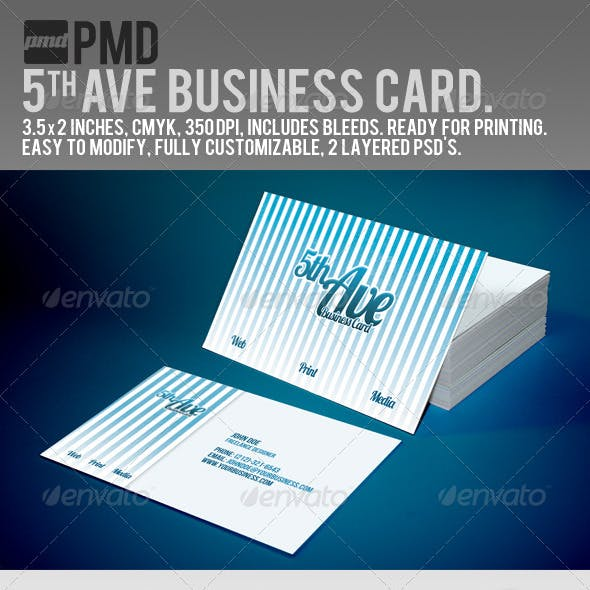 PMD - 5th Ave Business Card