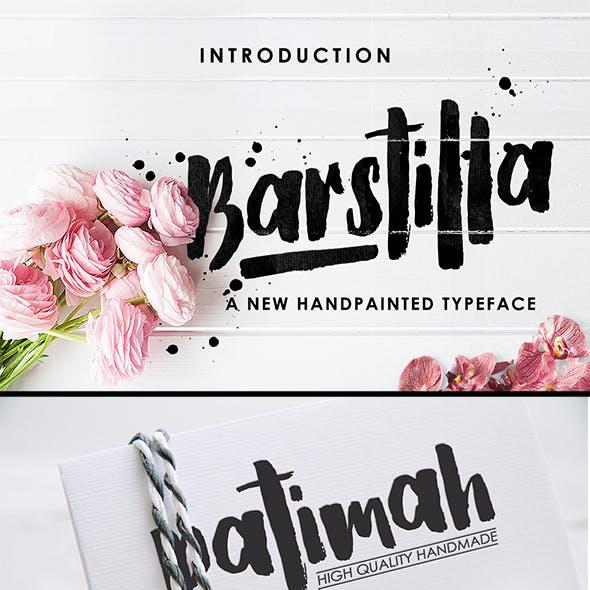 Barstilla Handpainted Font