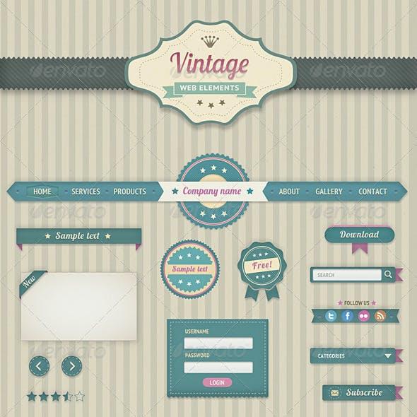 Vintage Web Elements
