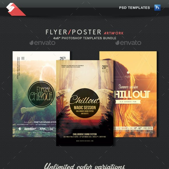 Chillout Collection - Event Flyer Templates Bundle