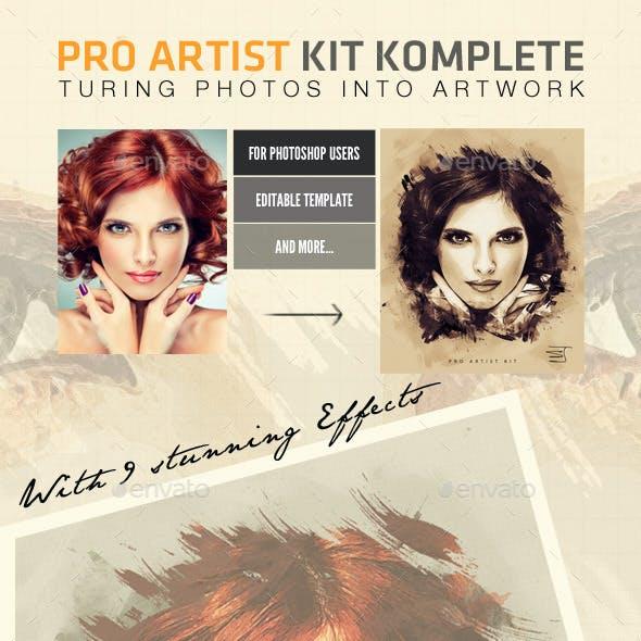 Pro Artist Creation Kit Template - Creative Mask FX
