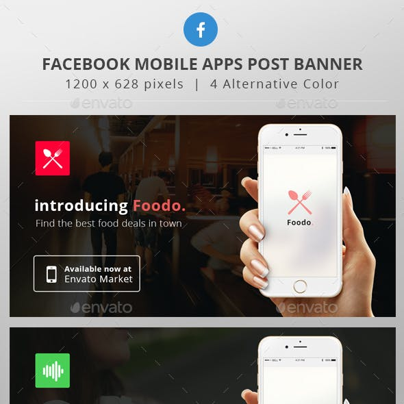 Mobile Apps Facebook Post banner
