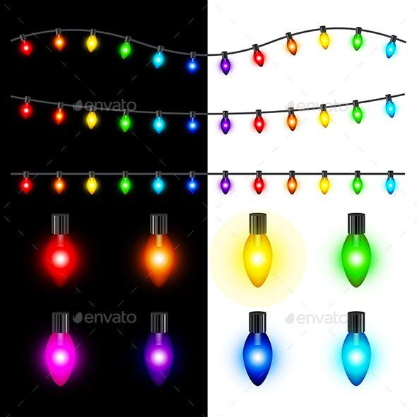 Christmas Lights Vector Set