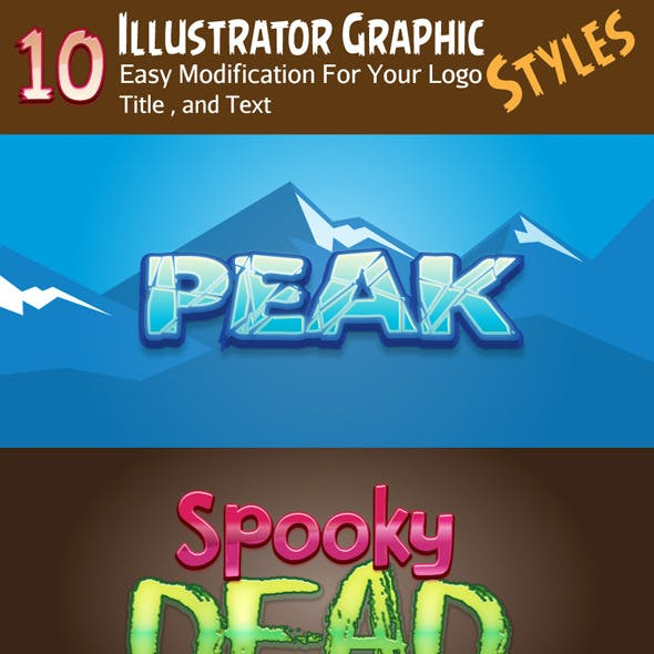 10 Illustrator Logos Graphic Styles V1