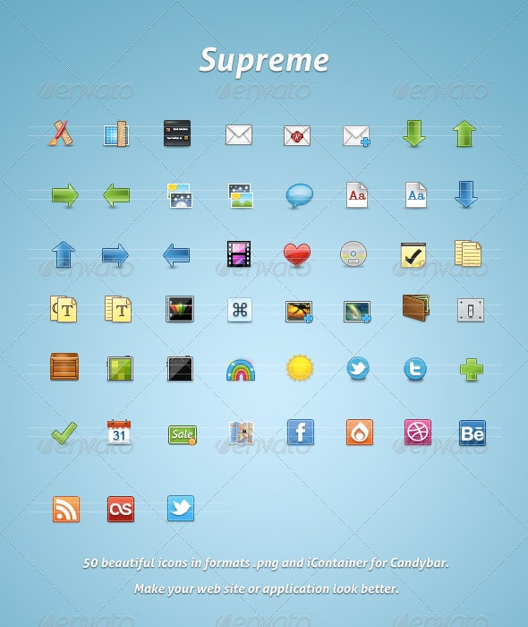 Supreme - Web Icons