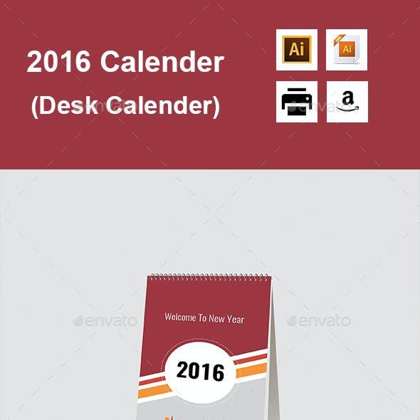 2016 Calender (Desk Calender)