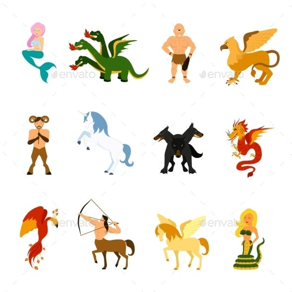 Mythical Creature Images Set